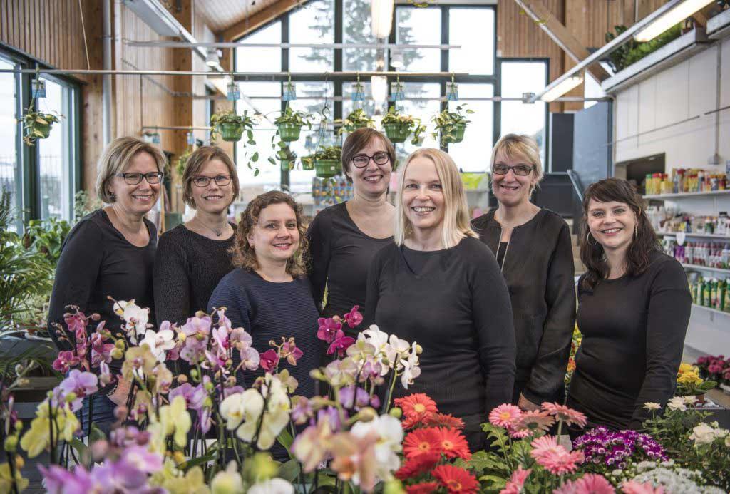 Kukkatalon henkilökunta